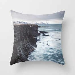 The Edge - Landscape and Nature Photography Throw Pillow