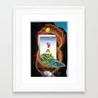 nirvana Framed Art Prints featuring NIRVANA? by Afrika Pseudobruitismus
