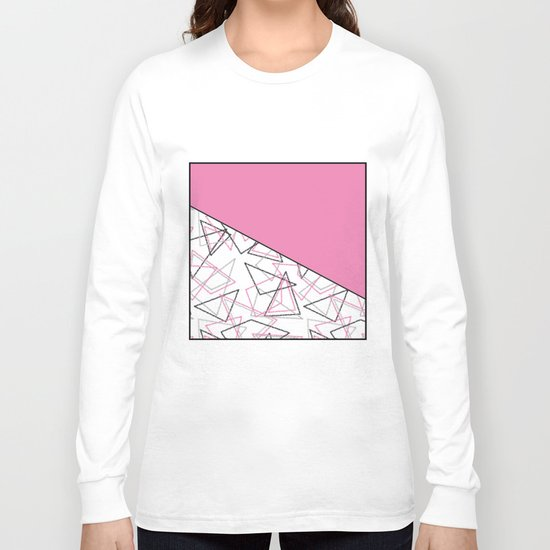 Abstract pink combo pattern . Long Sleeve T-shirt