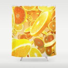 Fresh orange Shower Curtain