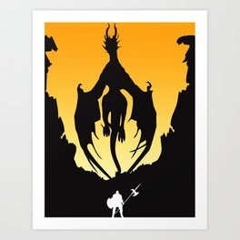 Dark Souls Prepare To Die! Art Print