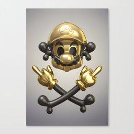 Undead Icons. Mario Canvas Print