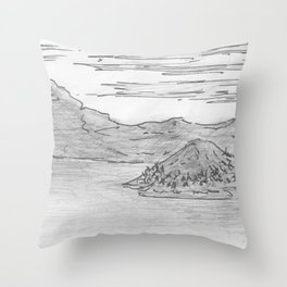 The Island is Growing Throw Pillow