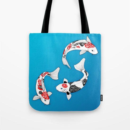 3 Koi fish Tote Bag