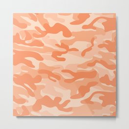 Light Orange Military Camouflage Pattern Metal Print