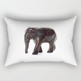 Brown Elephant with a Missing Piercing Rectangular Pillow