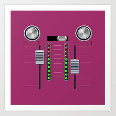 The sound system pink Art Print