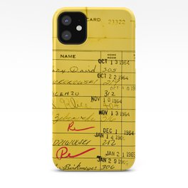 Library Card 23322 Yellow iPhone Case
