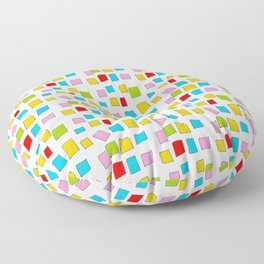 rectangle and abstraction 3-mutlicolor,abstraction,abstract,fun,rectangle,square,rectangled,geometri Floor Pillow