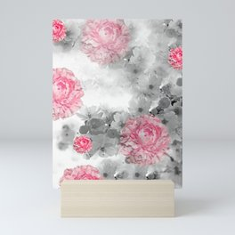ROSES PINK WITH CHERRY BLOSSOMS Mini Art Print