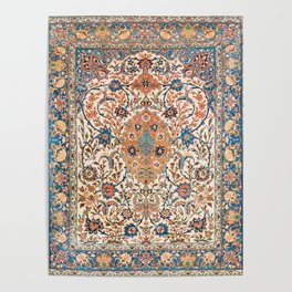 Isfahan Antique Central Persian Carpet Print Poster