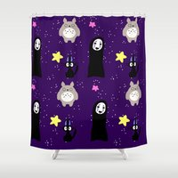 ghibli Shower Curtains featuring Ghibli by KawaiiLily