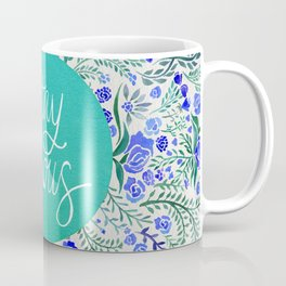 Stay Curious – Navy & Turquoise Coffee Mug