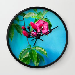 Tropical Blue 4 Wall Clock