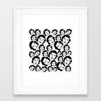women Framed Art Prints featuring Women by Emmanuelle Ly