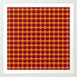Fleur De Lis - Wine Art Print