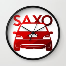 Citroen Saxo - classic red - Wall Clock