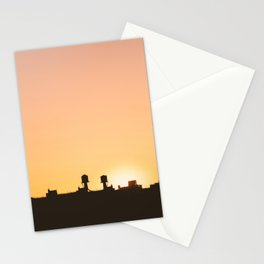 New York Water Towers Sunset Stationery Cards