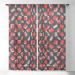 Polka Dot Books Pattern Sheer Curtain