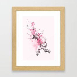 Blooming attack Framed Art Print