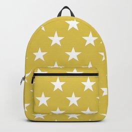 STARS DESIGN (WHITE-GOLD) Backpack