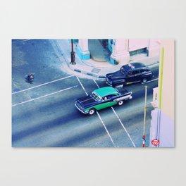 Havana Street Cars Canvas Print