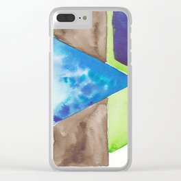 180819 Geometrical Watercolour 8| Colorful Abstract | Modern Watercolor Art Clear iPhone Case