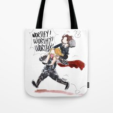 PEGGY CARTER IS WORTHY. Tote Bag