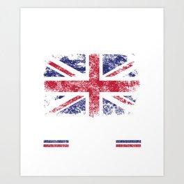 No Fear Briton Is Here Great Britain Flag Art Print