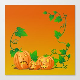 Pumpkins with personality Canvas Print