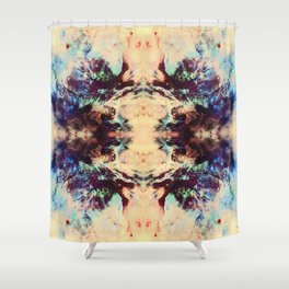 Abstract Colorful Batik Butterfly Pattern Shower Curtain