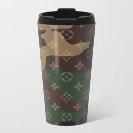 LV Camouflage Metal Travel Mug