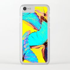 Shiny and colorful butterflies Clear iPhone Case