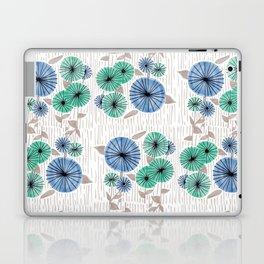Blue & Green Flower Pattern Laptop & iPad Skin