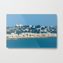 Breathtaking view of the city of Tunis from the sea Metal Print
