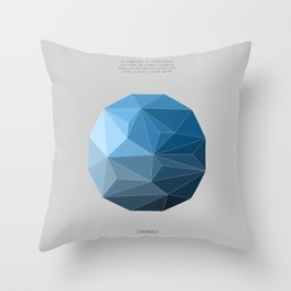 Continuum grey Throw Pillow