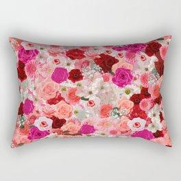 pink floral pattern Rectangular Pillow