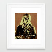 chewbacca Framed Art Prints featuring Chewbacca by iankingart