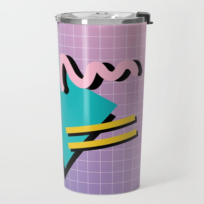 Memphis Pattern 10 - 90s - Retro Travel Mug