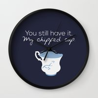 ouat Wall Clocks featuring Rumbelle Quote (OUAT) by CLM Design