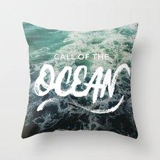 Call of the Ocean Throw Pillow