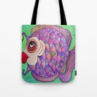 wasted rita Tote Bags featuring RITA by Caribbean Critters Co.
