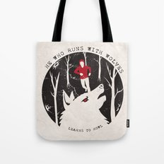 Sterek: He Who Runs With Wolves Tote Bag