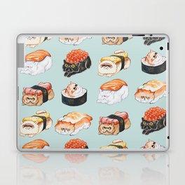 Sushi Persian Cat Watercolor Laptop & iPad Skin