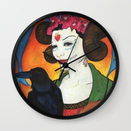 Untitled (All Souls Procession 2012) Wall Clock