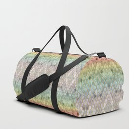 Rainbow Mermaid Scales Duffle Bag