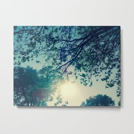 Lost in the Trees:  Blue Metal Print