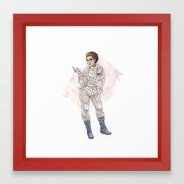 Hoth Leia Framed Art Print