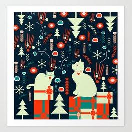 Look what Santa brought Art Print