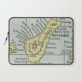 Vintage Tenerife Island Map (1901) Laptop Sleeve